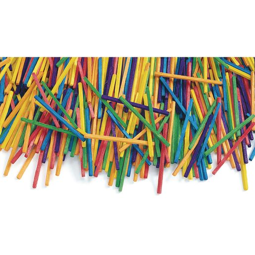 Colorations® Colored Wood Craft Matchsticks - 1,000 Pieces