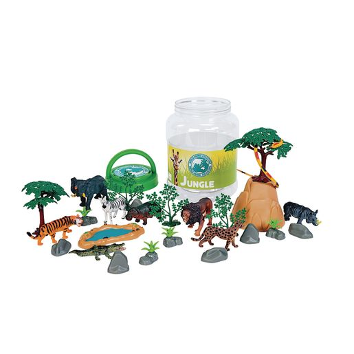 Image of Jungle Animal Bucket Set of 31 Pieces