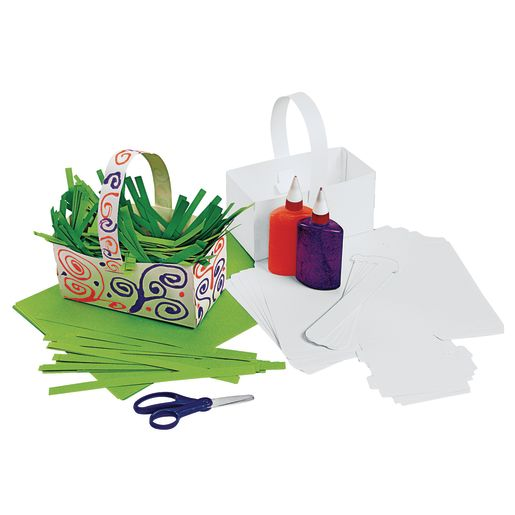 Colorations® Fun-Fold Paper Baskets Set of 20