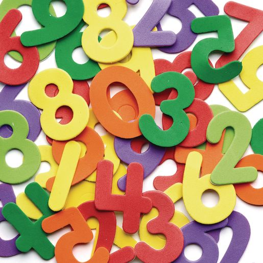 Image of Colorations Self-Adhesive Number Foam Shapes 150 Pieces