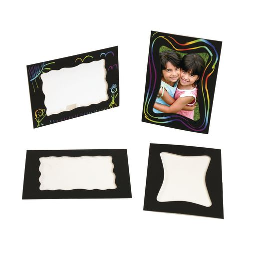 Image of Colorations Scratch Designs Stand-Up Frames Set of 12