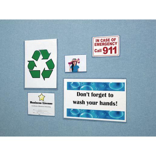 "DocU-Sleeves 8-1/2"" x 11"" Wall-Mount Document Display - Set of 5"