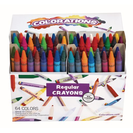 Colorations® 64 Regular Crayons