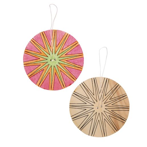 Colorations® Decorate Your Own Spinner, Set of 24, 6 Designs