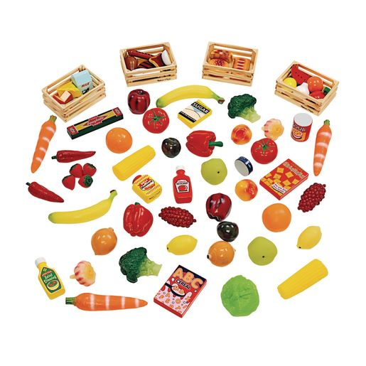 Image of Classroom Starter Kit Food - 61 Pieces with Storage Bin