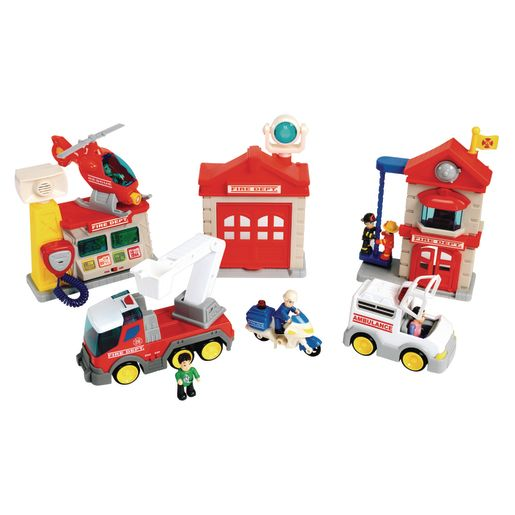 Image of Lights & Sound Fire Department Playset