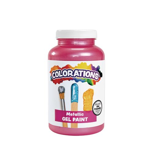 Image of Colorations Metallic Gel Paint, Pink - 16 oz..