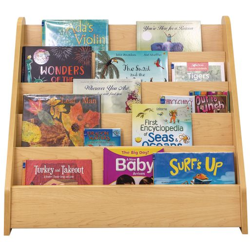 Single-Sided Book Display - Maple/Maple, Assembled