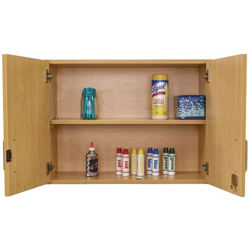 Adjustable 2-Shelf Locking Wall Storage - Maple/Maple, Assembled