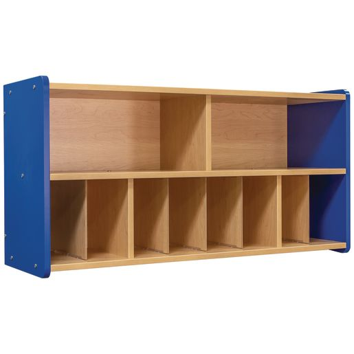 Diaper Wall Storage - Maple/Royal Blue, Assembled