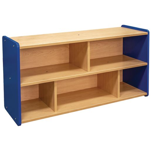 """2-Shelf Storage Unit, 24""""H - Maple/Royal Blue, Assembly Required"""