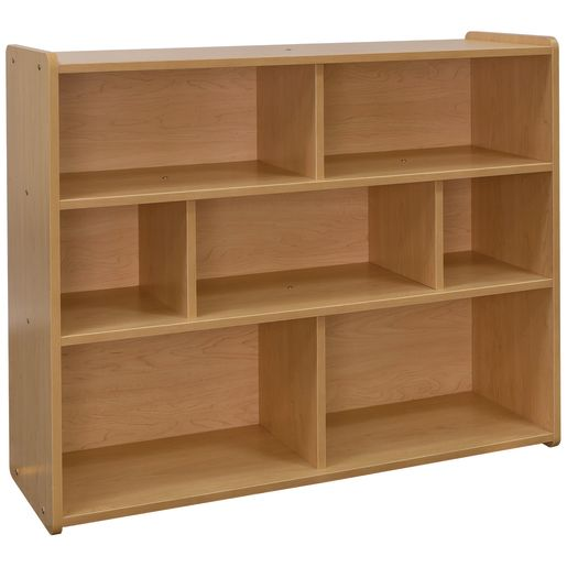 "3-Shelf Storage Unit, 38""H - Maple/Maple, Assembled"