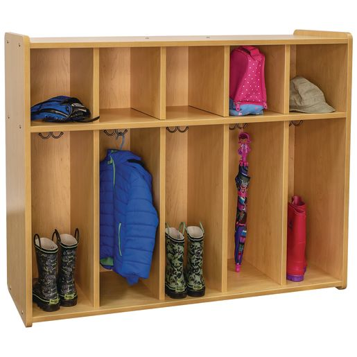 "38"" High 5-Section Locker - Maple/Maple, Assembled"