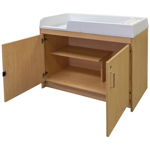 Infant Changing Table, Molded Top - Maple/Maple