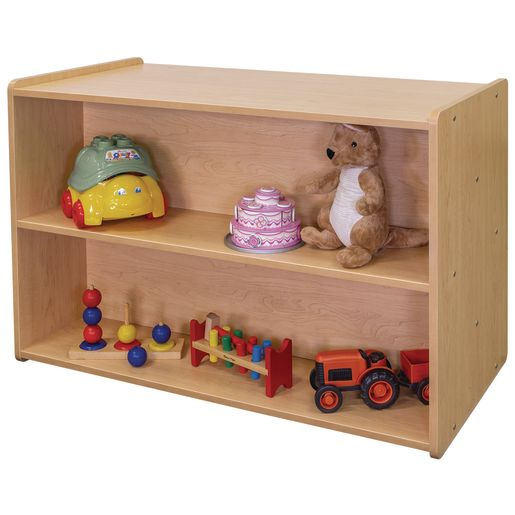 """30"""" High Double-Sided Storage Unit - Maple/Maple, Assembled"""