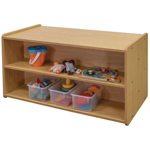 """24"""" High Double-Sided Storage Unit - Maple/Maple, Assembled"""