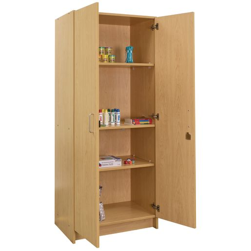 Locking Tall Laminate Storage - Maple/Maple, Assembled