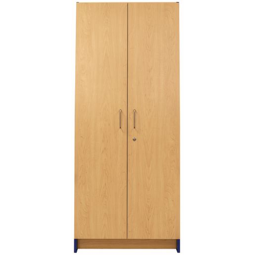 Locking Tall Laminate Storage - Maple/Royal Blue, Assembled