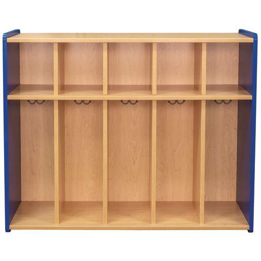 "38"" High 5-Section Locker - Maple/Royal Blue, Assembled"