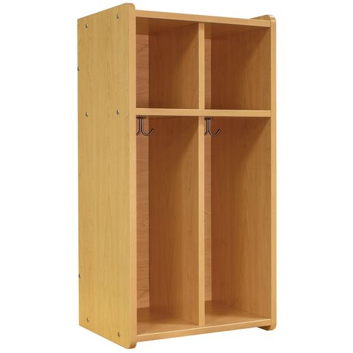 Image of Tot Mate 2-Section Locker - Maple/Maple, Assembled