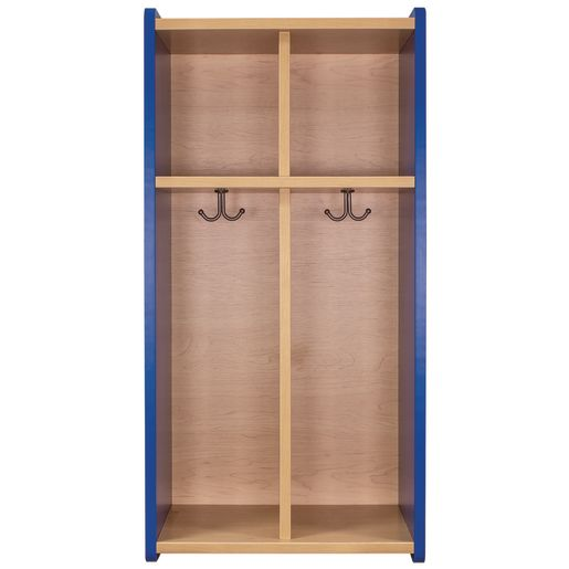 Image of Tot Mate 2-Section Locker - Maple/Royal Blue, Assembled