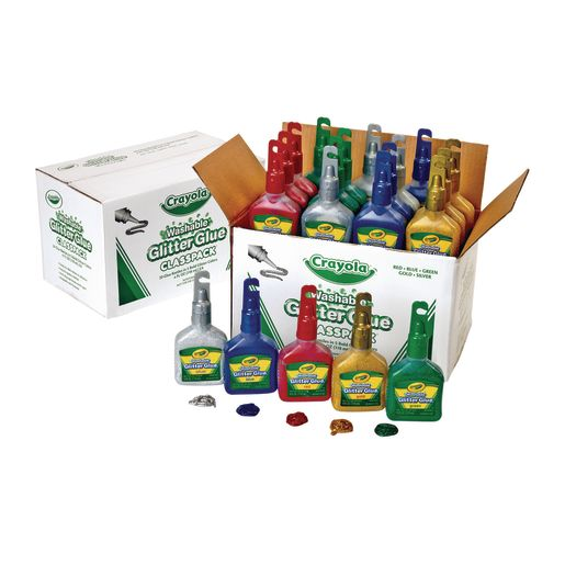 Image of Crayola Glitter Glue Classpack - Set of 20