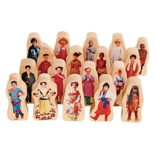 Image of Excellerations Photo Block Multicultural Play People Set of 18