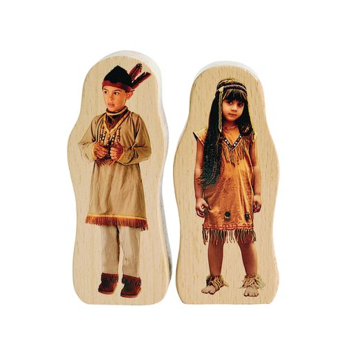 Excellerations® Photo Block Multicultural Play People Set of 18