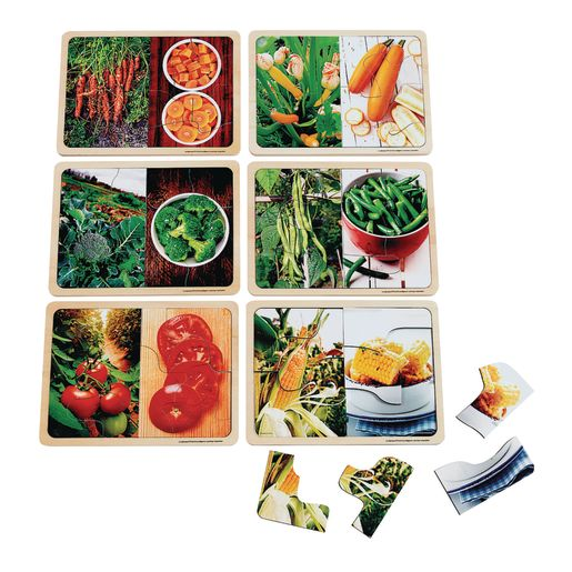 Image of Excellerations Vegetable Photo Puzzles Set of 6