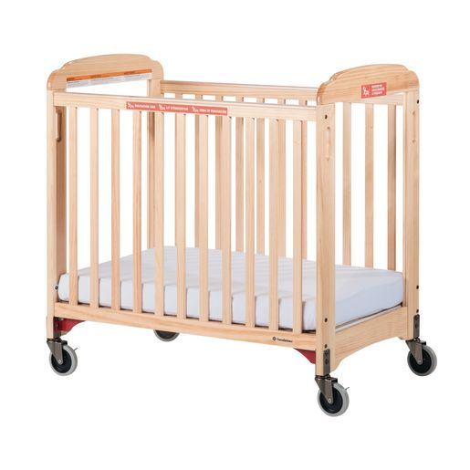 Foundations® Next Gen First Responder Evac Crib, Clearview, Natural Finish