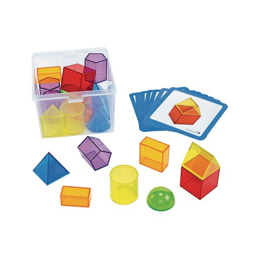 Excellerations® STEM Translucent Geometric Shapes with Activity Cards_2