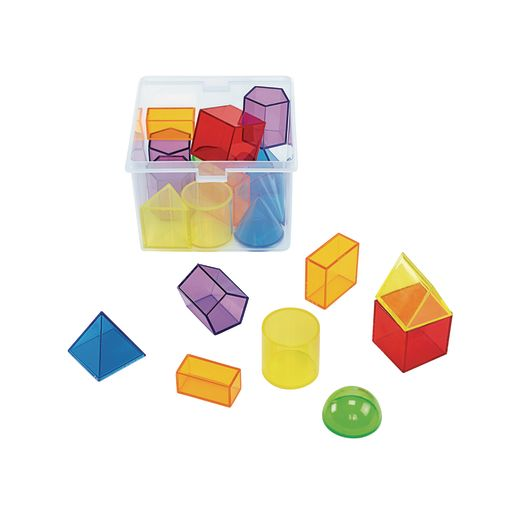 Excellerations® STEM Translucent Geometric Shapes with Activity Cards_3