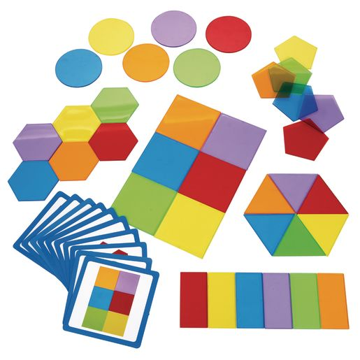 Image of Excellerations STEM Translucent Attribute Shapes 36 Pieces