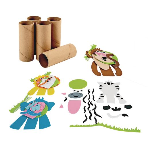 Safari Decorations with Craft Rolls Kit for 24
