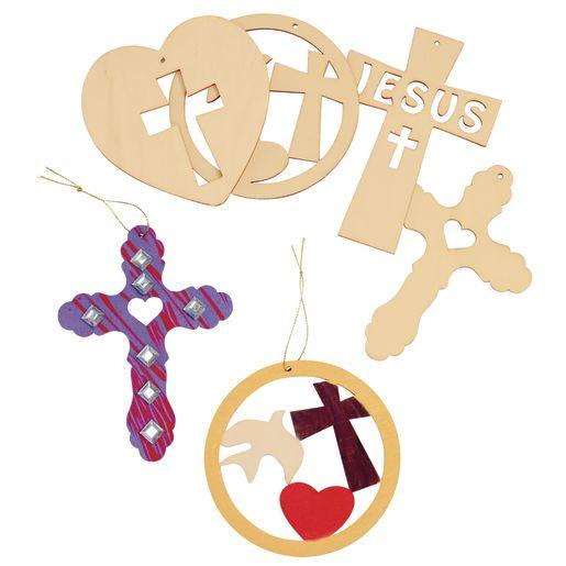 Hanging Wooden Cross Scenes 12 Pieces