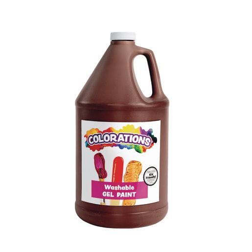 Colorations® Washable Gel Paint Gallon, Brown