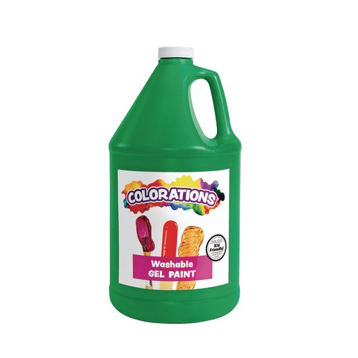 Image of Colorations Washable Gel Paint Gallon, Green