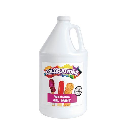 Colorations® Washable Gel Paint Gallon, White