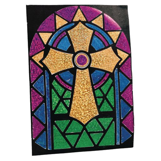 Image of Foil Cross Craft Kit for 12