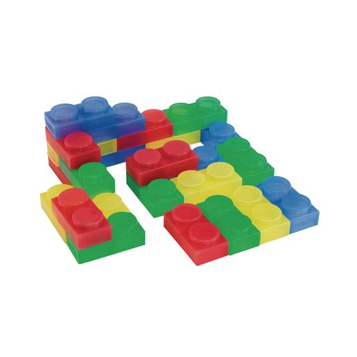 Image of Soft Translucent Bricks 24 Pcs.