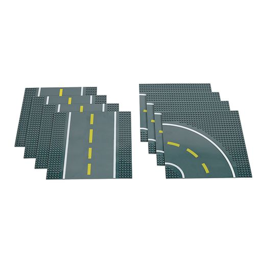 Image of Stackable Road Baseplates Set of 8