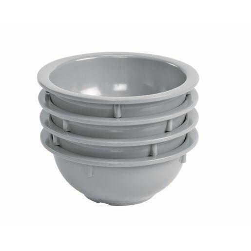 Melamine 14 oz. Gray Rim Bowls Set of 4