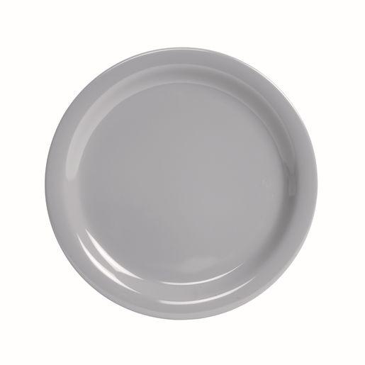 "Melamine 9"" Gray Plates Set of 4"
