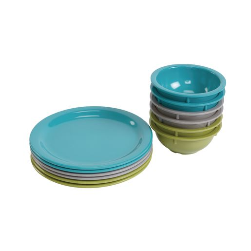 Colorful Family Style Dining Set of 12 Pcs.