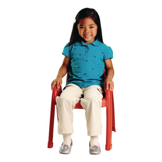 """Angeles® Value Stack™ Chair 9""""H Red"""