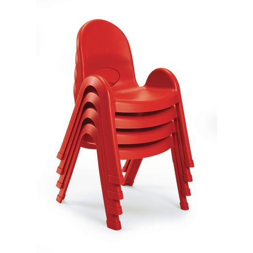 "Angeles® Value Stack™ Chair 13""H Red"
