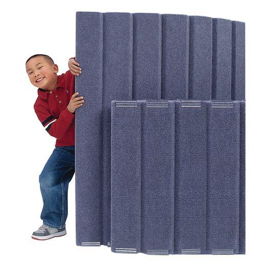 """48""""H x 10'L Angeles® BaseLine® Sound Sponge® Quiet Dividers® Slate Blue"""