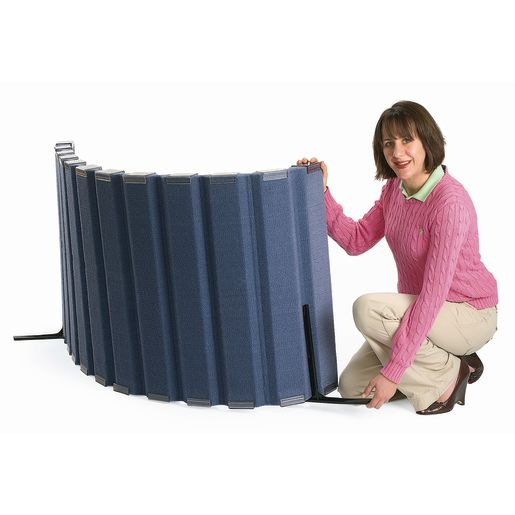 "30""H x 10'L Angeles® BaseLine® Sound Sponge® Quiet Dividers® Blueberry"
