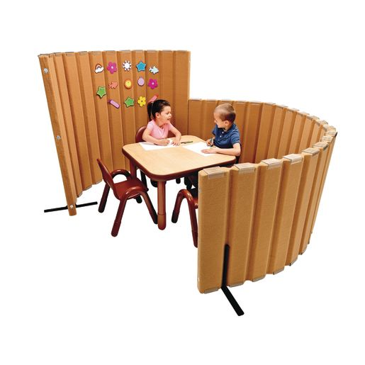 "30""H x 6'L Angeles® BaseLine® Sound Sponge® Quiet Dividers® in Natural Tan"