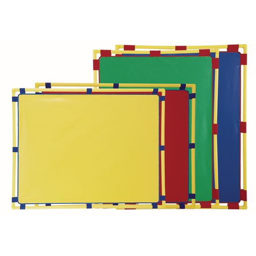 "Activity Center PlayPanels® - Rectangle, 31"" x 48"" - Blue with Yellow Piping"
